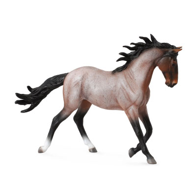 Mustang Mare – Bay Roan  - horses-1-20-scale