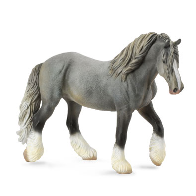 Shire Horse Mare - Grey - horses-1-20-scale
