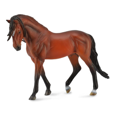 Andalusian Stallion Bright Bay - Deluxe 1:12 Scale