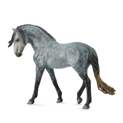 Andalusian Stallion Dark Dapple Grey - Deluxe 1:12 Scale - 88631