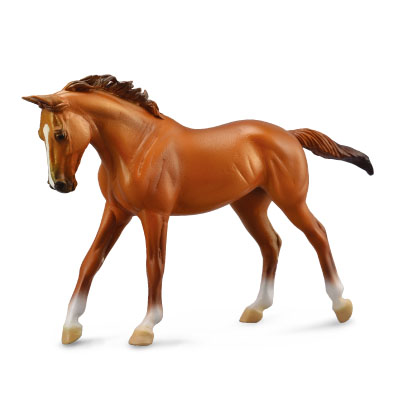 Thoroughbred Mare Chestnut  - Deluxe 1:12 Scale - 88635