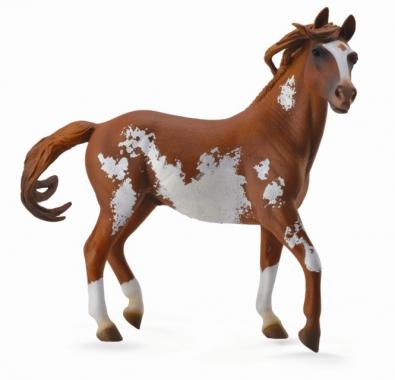 Semental Mustang Castaño Overo, Deluxe 1:12