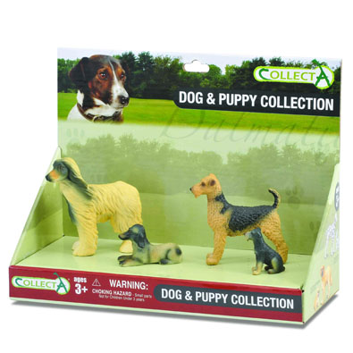 4pcs Dog & Puppy Set