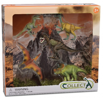 5pcs Dinosaur Set In Window Box  - 89120