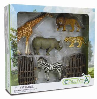6pcs Wild Life Boxed Set Collecta Figures Animal Toys