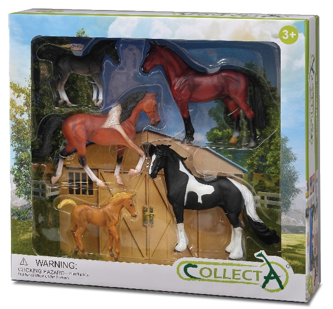 6pcs Horse Boxed Set Collecta Figures Animal Toys