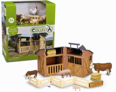 Barn Playset with 5pcs farm Animals & accessories - 89331