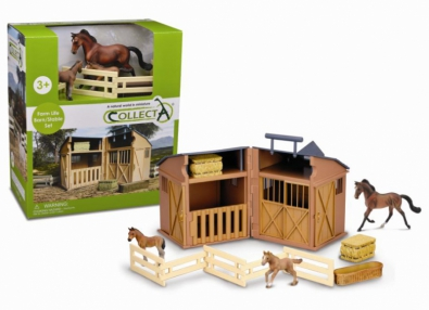 Stable Playset With Animals & Accessories - box-sets