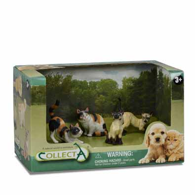 4 pcs Cats & Dogs Open Boxed Set - 89552