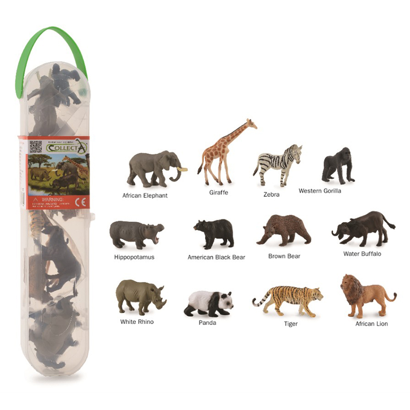 1a5c6d20bc48 CollectA box of Mini Wild Animals -1 - Collecta Figures: Animal Toys,  Dinosaurs, Farm, Wild, Sea, Insect, Horses, Prehistoric, Woodlands, Dogs,  Cats, ...